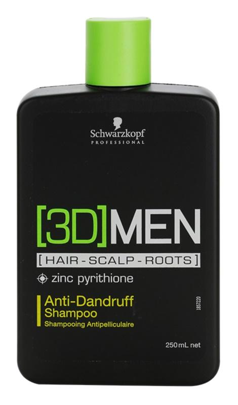 Schwarzkopf Professional [3D] MEN Shampoo  tegen Roos